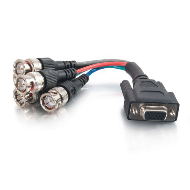 C2G 2570 1.5ft Premium VGA Female to RGBHV (5-BNC) Male Video Cable