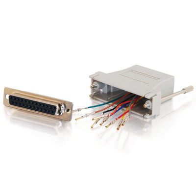 10-pin RJ45 to DB25 Female Modular Adapter