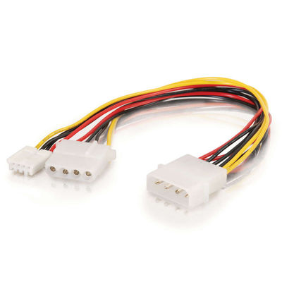 C2G 3164 10in 1 5-1/4in to 1 3-1/2in, 1 5-1/4in Internal Power Y-Cable