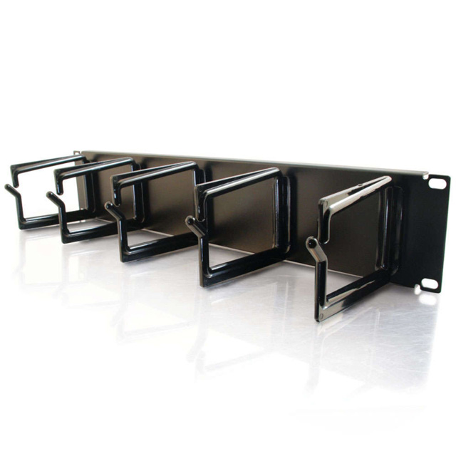 C2G 3745 2u (3.5in) Cable Management Panel, 5 D-Rings