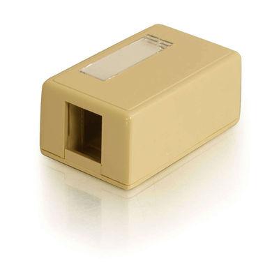 C2G 3830 1-Port Keystone Jack Surface Mount Box - Ivory