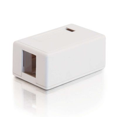 C2G 3831 1-Port Keystone Jack Surface Mount Box - White