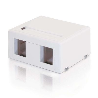 C2G 3833 2-Port Keystone Jack Surface Mount Box - White