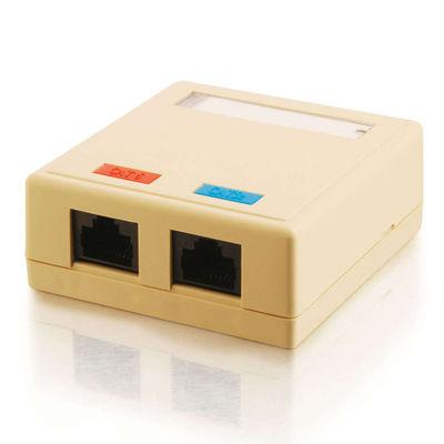 C2G 03836 2-Port Cat5E Surface Mount Box - Ivory