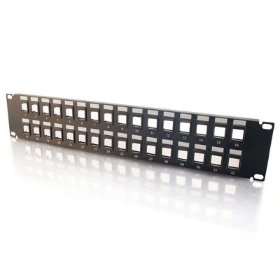 C2G 3857 12-Port Blank Keystone/Multimedia Patch Panel