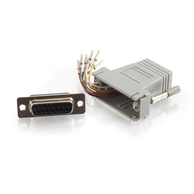 C2G 6691 10-pin RJ45 to DB9 Female Modular Adapter