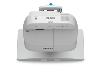 Epson BrightLink Pro 1430Wi WXGA 3300lm Finger Touch Projector w/ Wall Mount