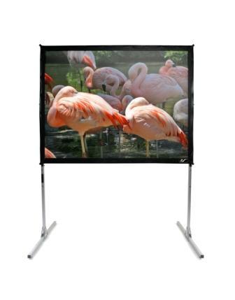 Elite Q275H1 QuickStand 275in. 16:9 Folding frame portable Screen, case.