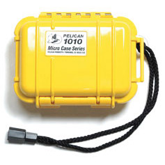 Pelican 1010 Watertight and Crushproof Micro Case- Solid Yellow