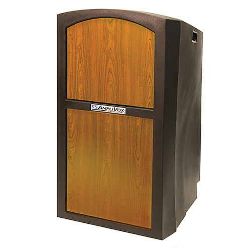 AmpliVox Sound Systems Pinnacle Multimedia Lectern (Non-Sound, Medium Oak Veneer)