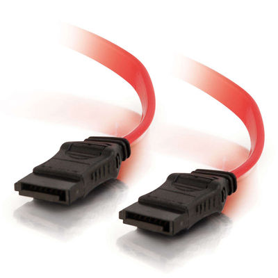 C2G 10192 12in 7-pin 180 deg. 1-Device Serial ATA Cable