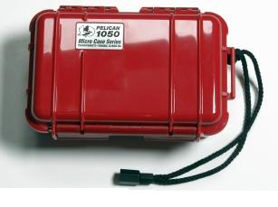 Pelican 1050 Watertight and Crushproof Micro Case - Red
