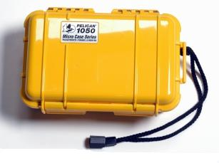 Pelican 1050 Watertight and Crushproof Micro Case - Yellow