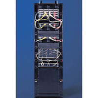 APW 42in Bolt-Down Relay Rack - Black (10/32 Holes)