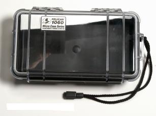 Pelican 1060 Watertight and Crushproof Micro Case - Black/Clear