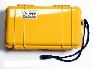Pelican 1060 Watertight and Crushproof Micro Case - Yellow