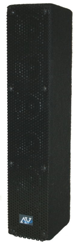 AmpliVox SS1234 50W Amplified Line Array Speaker, Wired Mic