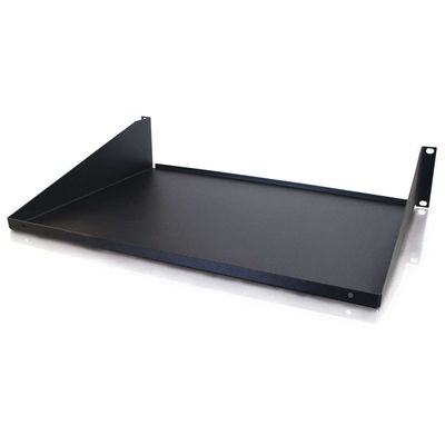 12in Solid Cantilevered Equipment Shelf - Black