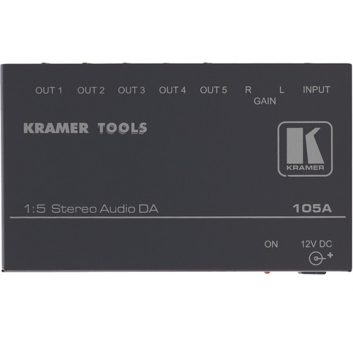 Kramer 105A Distribution Amplifier, 1x5, Stereo Audio, Mini Series