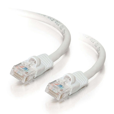 C2G 25428 10ft Cat5E 350 MHz Snagless Patch Cable - White