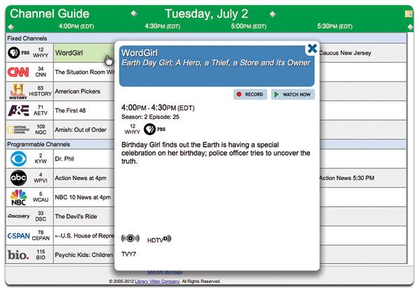 Safari G1332E Channel Guide Setup, Year 1 subscription) - 51-100 schools
