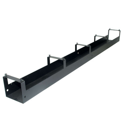 APW 69in Vertical Cable Raceway for Relay Rack - Black