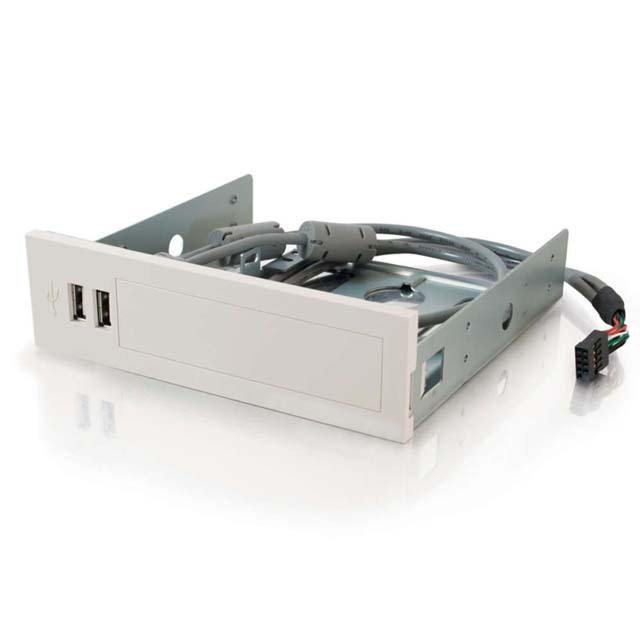 2-port USB 2.0 Front Bay Hub - White