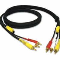 C2G 29154 12ft Value Series 4-in-1 RCA + S-Video Cable