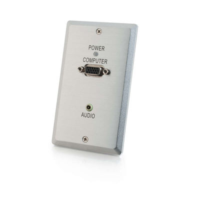 C2G 29365 TruLink VGA+3.5mm Audio over Cat5 Wall Plate Transmitter