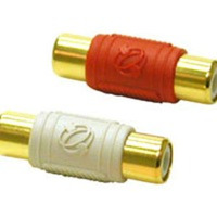 2-Piece RCA Dual Channel Audio Coupler