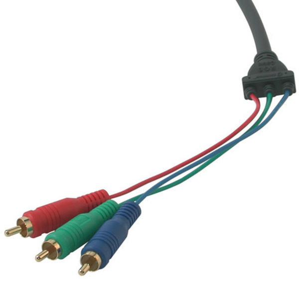 C2G 26941 6ft Ultima HD15 Male to RCA HDTV Component Video Breakout Cable