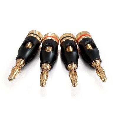 8 AWG Screw-On Banana Plug Speaker Connector - 4pk