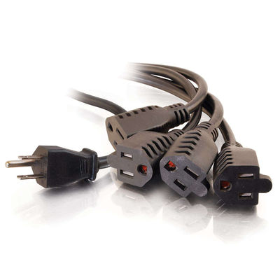 C2G 29803 14in 16 AWG 1-to-4 Power Cord Splitter