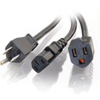 C2G 29810 1.5ft 16 AWG 1-2 Power Cord Splitter