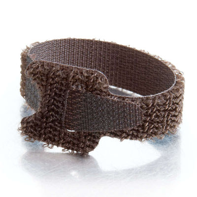 C2G 29860 6in Hook-and-Loop Cable Management Straps - Brown - 12pk