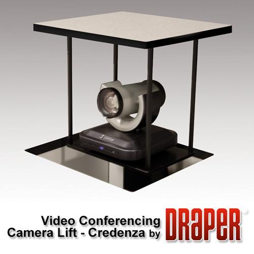 Draper 300400 Credenza Video Conferencing Camera Lift - Small