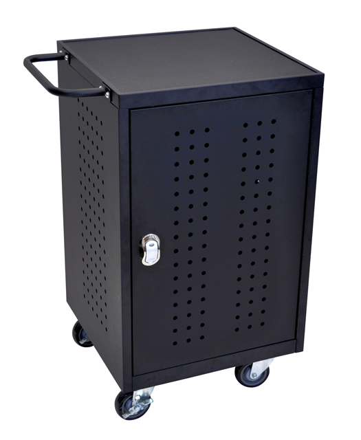 Luxor LLTM30-B-RFID Black 30 Tablet Computer Charging Cart with RFID