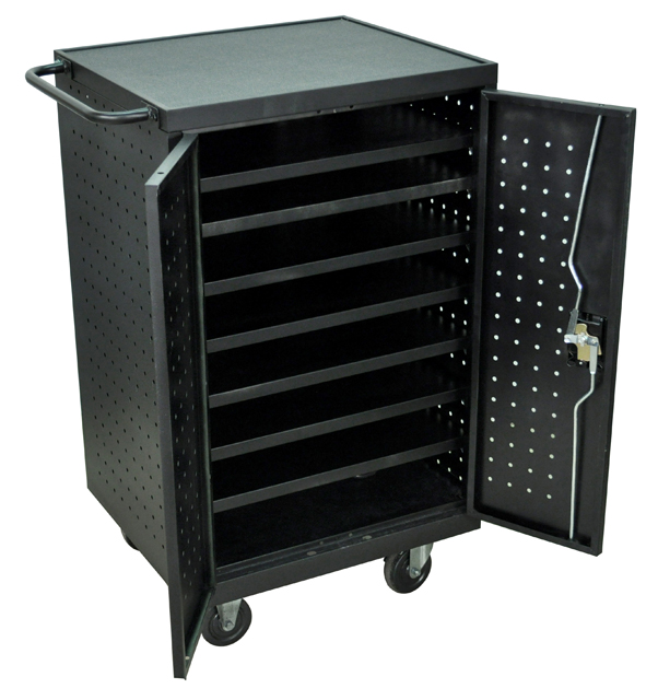 Luxor LLTS12-B Black Tablet and Laptop Computer Charging cart