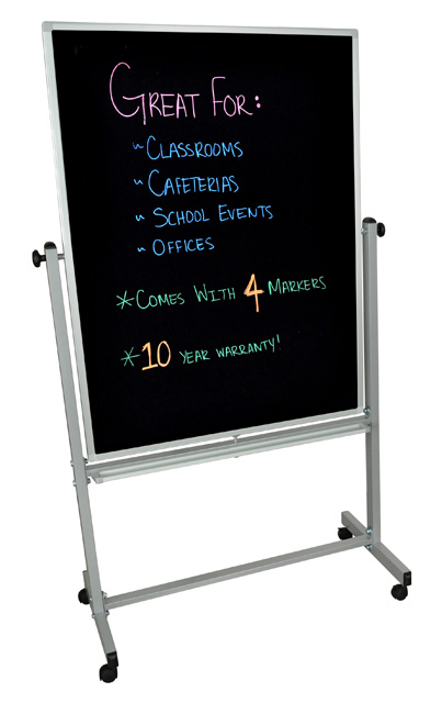 Luxor BM3648M Double Sided 36x48 Mobile Black Board