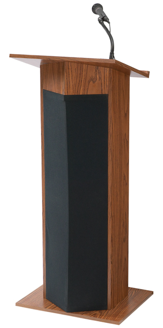 Oklahoma Sound 111PLS-MO The Power Plus Lectern (Medium Oak)