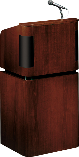 Oklahoma Sound Tabletop & Base Combo Sound Lectern (Mahogany on Walnut)