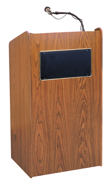 Oklahoma Sound 6010-MO The Aristocrat Sound Lectern (Sound, Medium Oak)
