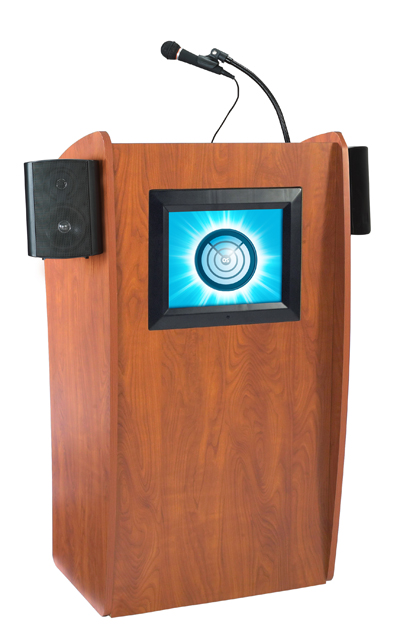 Oklahoma Sound 612-S The Vision Lectern (with Sound & Screen)
