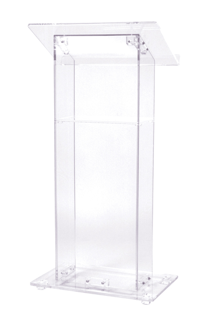 Oklahoma Sound 401S Clear Acrylic Lectern with Shelf