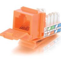 C2G 35205 90 deg. Cat5E RJ45 UTP Keystone Jack - Orange