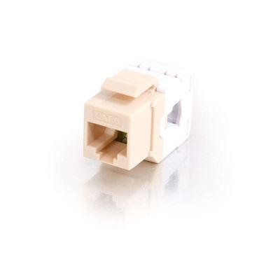 C2G 35209 180 deg. Cat6 RJ45 UTP Keystone Jack - Ivory