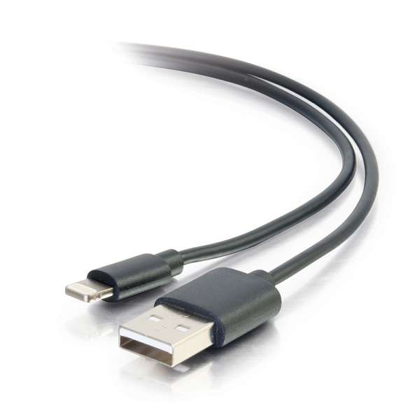 C2G 35499 3.3ft USB A (M) to Lightning Male Sync & Charging Cable (Black)
