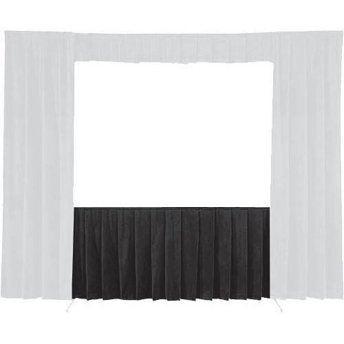 Da-Lite 36738 Skirt ONLY for the 10'6in. x 14' Fast-Fold Deluxe Frame (Black)