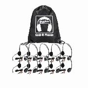 Hamilton SOP-HA2M Sack-O-Phones, 10 Personal Headsets, Mic & Ear Cushions