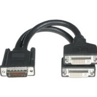 C2G 38064 9in 1 LFH-59 (DMS-59) Male to 2 DVI-I Female Cable